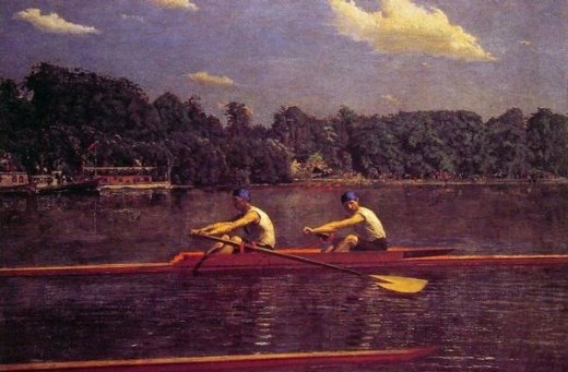thomas eakins the biglin brothers racing paintings