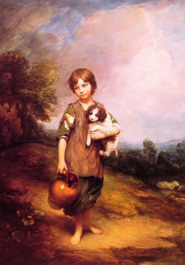 thomas gainsborough cottage girl with dog and pitcher paintings