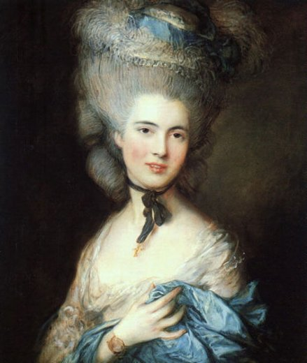 thomas gainsborough portrait of a lady in blue paintings
