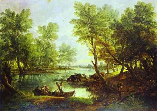 thomas gainsborough view of king s bromley painting