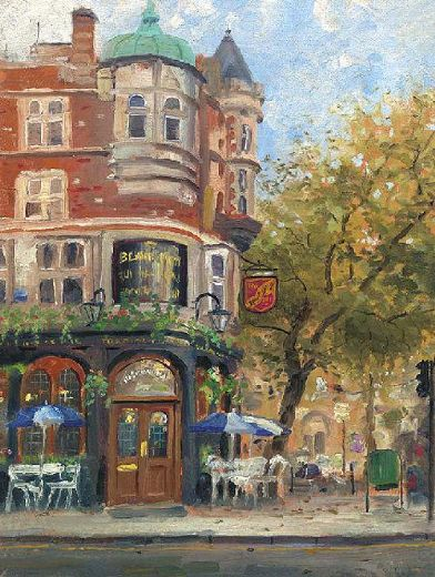 thomas kinkade bloomsbury cafe paintings