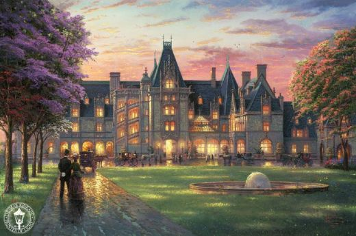 thomas kinkade elegant evening at biltmore paintings