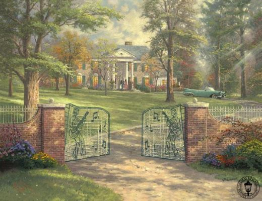 thomas kinkade graceland painting