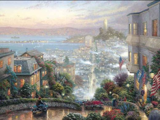 thomas kinkade lombard street paintings