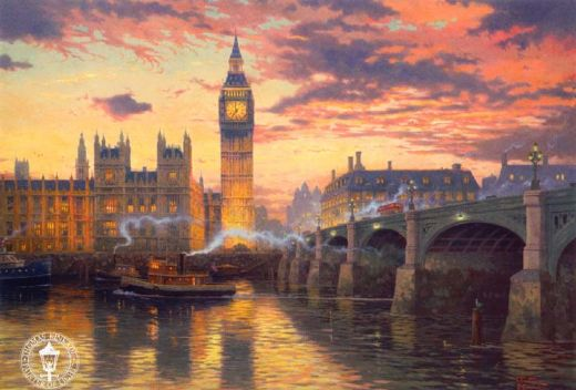 thomas kinkade london paintings
