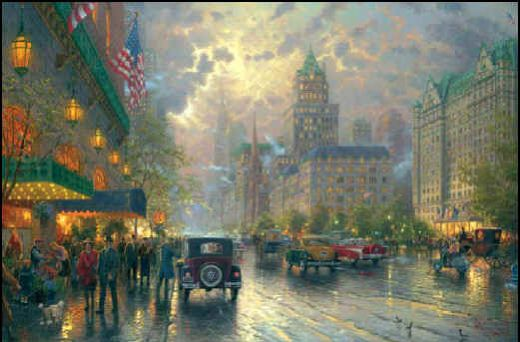 thomas kinkade new york 5th avenue painting
