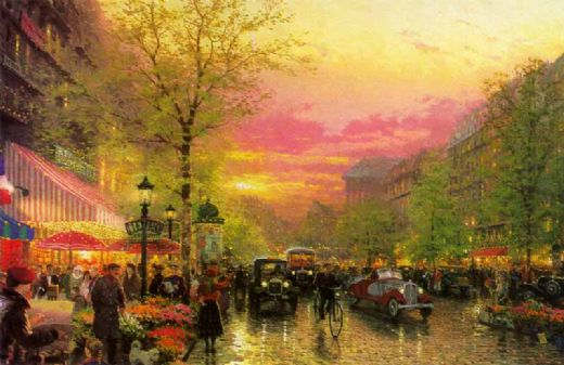 thomas kinkade paris city of lights paintings