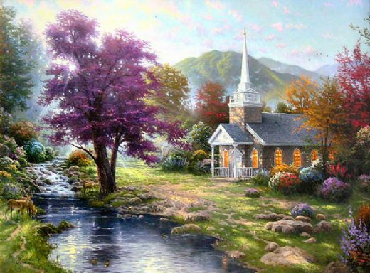 thomas kinkade streams of living water painting