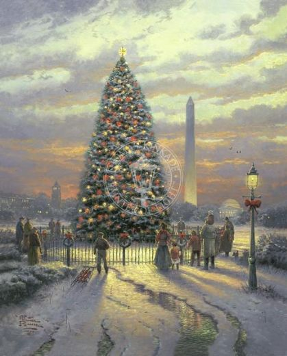 thomas kinkade symbols of freedom paintings