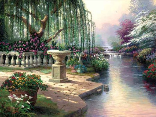 thomas kinkade the hour of prayer paintings