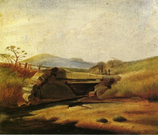 thomas moran landscape after second lesson with edward moran painting