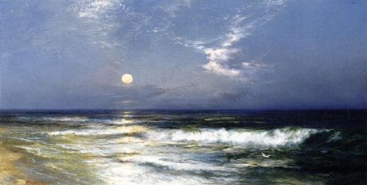thomas moran moonlit seascape i painting