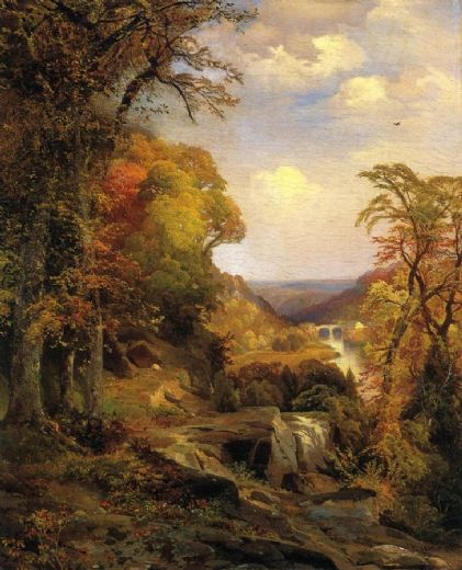 thomas moran on the wissahickon near chestnut hill posters