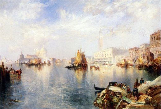 thomas moran venice the grand canal with the doge s palace painting