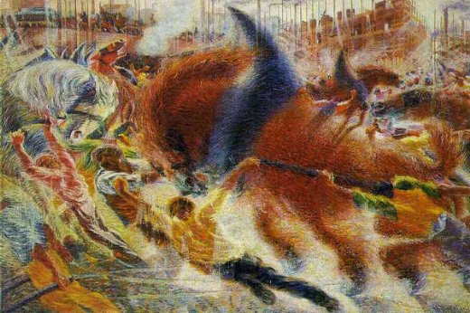 umberto boccioni city painting