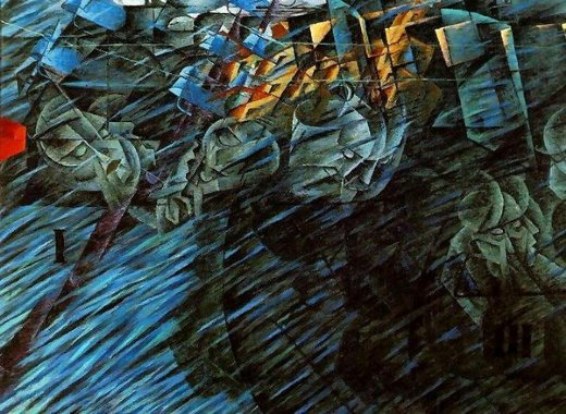 umberto boccioni states of mind those who go painting