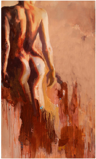 unknown artist Abstract Nude custom art 4 paintings