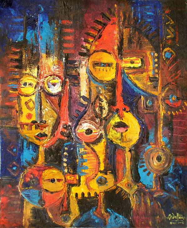 unknown artist african abstract art 1 oil painting