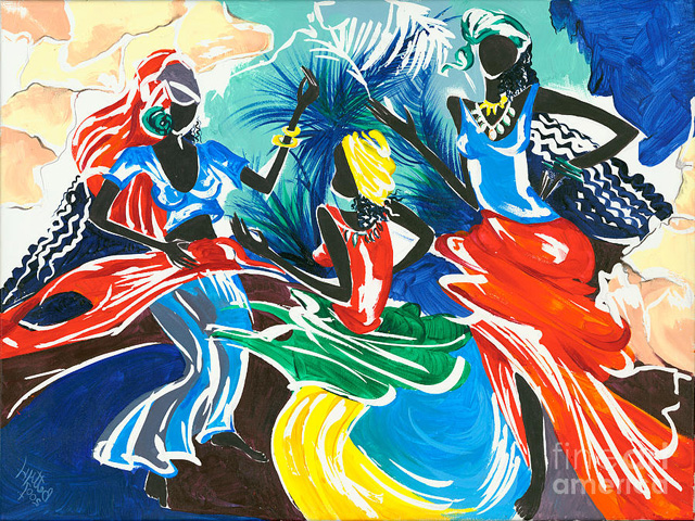 unknown artist african dancers 1 paintings