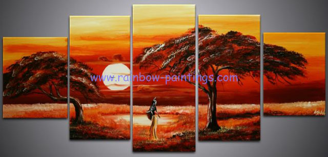 unknown artist african landscape group art 1 painting