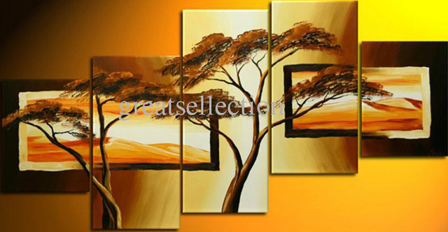 unknown artist african trees group art 1 painting