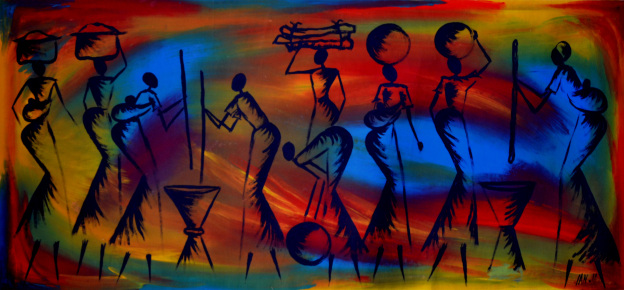 african widelife painting