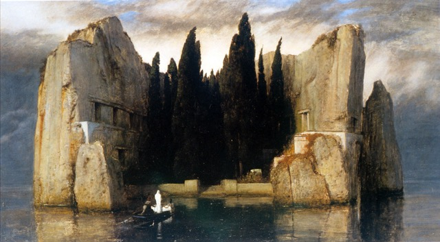 unknown artist arnold boecklin island of the dead painting