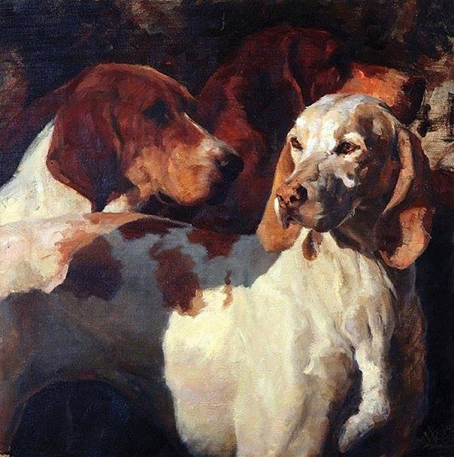 unknown artist custom dog art 4 paintings