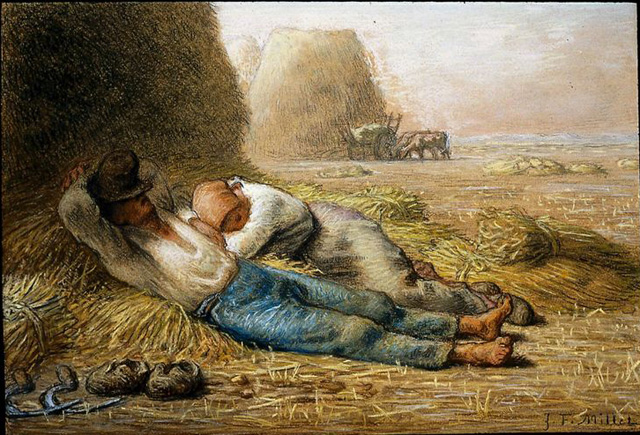 unknown artist jean francois millet noonday rest posters