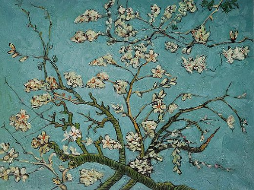 vincent van gogh branches of an almond tree in blossom paintings