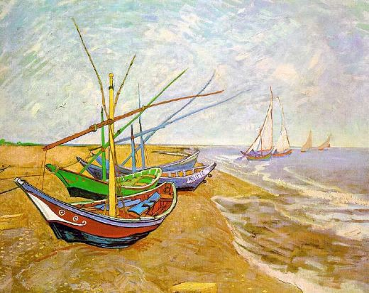 vincent van gogh fishing boats on the beach paintings