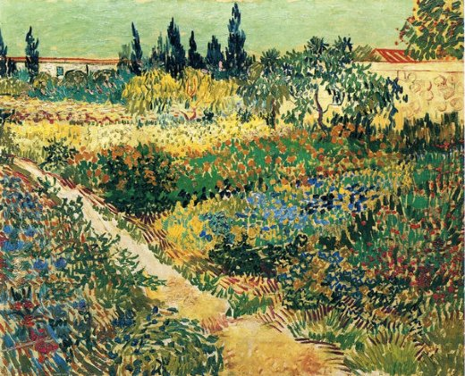 vincent van gogh garden with flowers ii paintings
