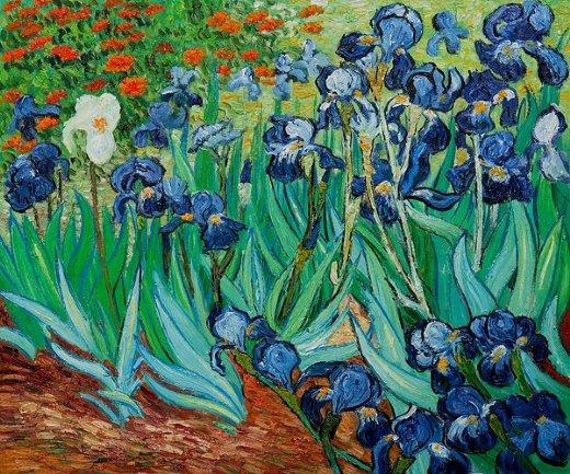 Irises ii painting vincent van gogh irises ii paintings for Van gogh irises