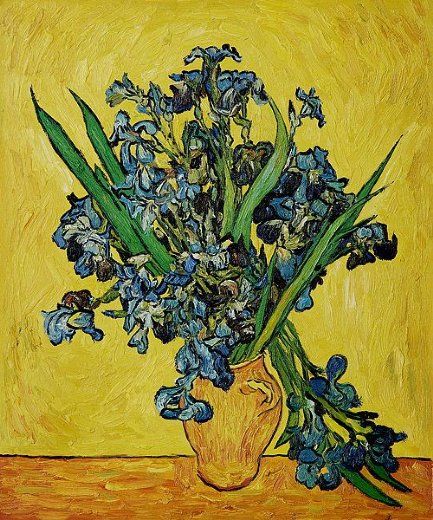 vincent van gogh irises in a vase ii painting