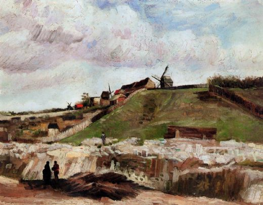 vincent van gogh montmartre the quarry and windmills paintings