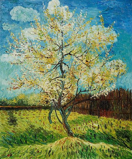 vincent van gogh pink peach tree paintings