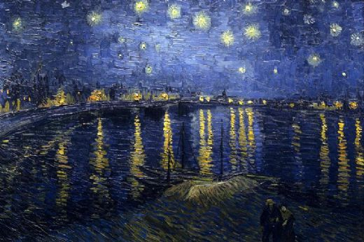 vincent van gogh starry night over the rhone painting