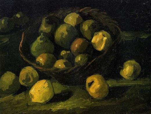 vincent van gogh still life with basket of apples painting