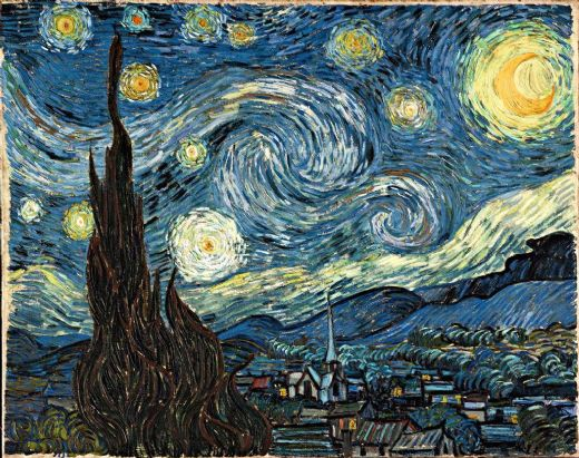 vincent van gogh the starry night 2 paintings