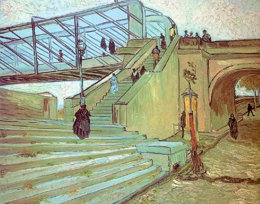 vincent van gogh the trinquetaille bridge painting