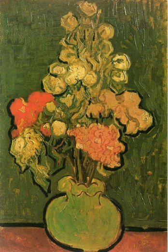 vincent van gogh vase with rose paintings