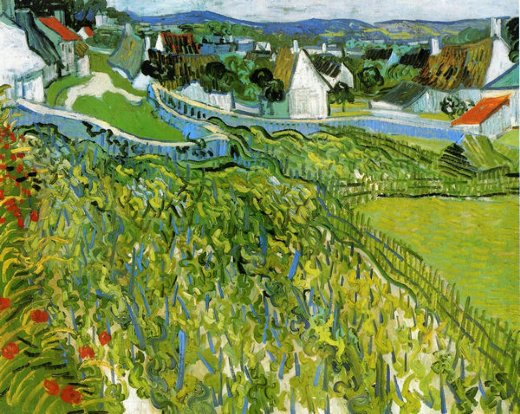 vincent van gogh vineyards with a view of auvers paintings