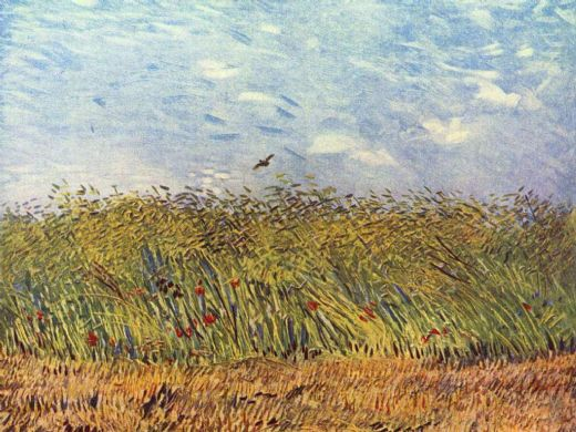 vincent van gogh wheatfield with a lark painting