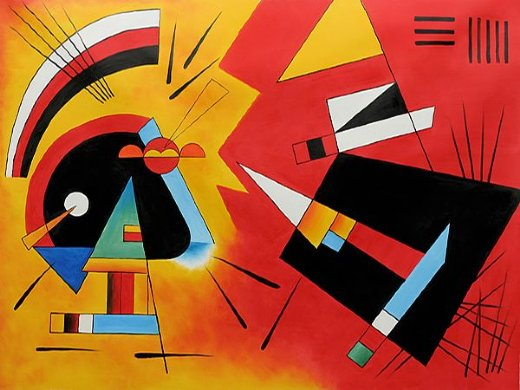 wassily kandinsky black and violet 1923 painting