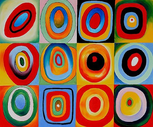 wassily kandinsky farbstudie quadrate iii painting