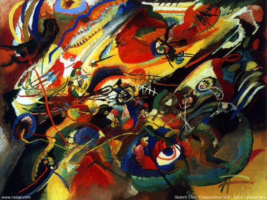 wassily kandinsky sketch for compo 7 painting