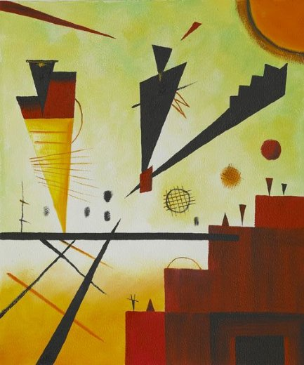 wassily kandinsky structure joyeuse merry structure painting