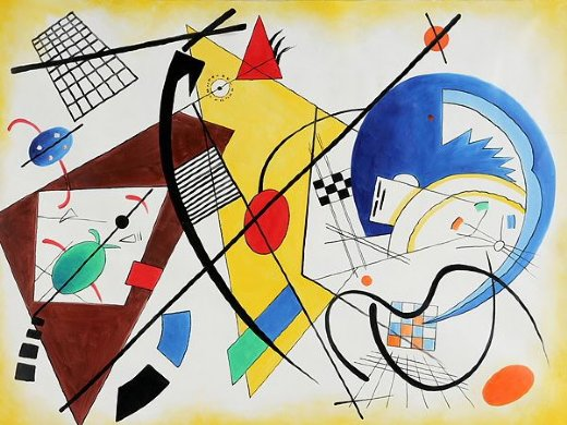 wassily kandinsky throughgoing line ii painting