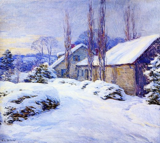 willard leroy metcalf winter afternoon paintings
