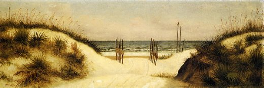 william aiken walker beach at ponce park florida painting